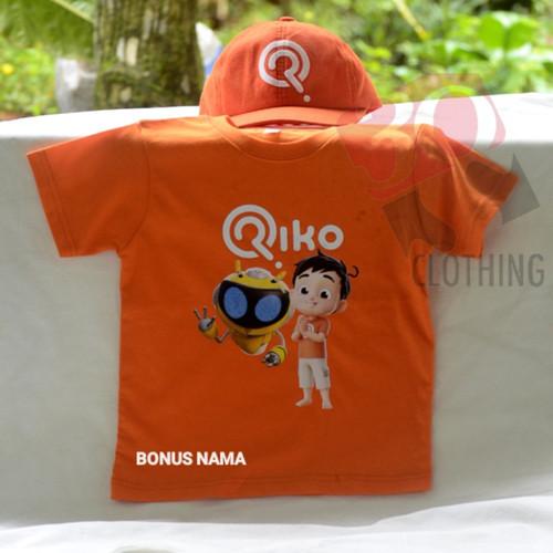 Foto Produk kaos anak unisex riko the series bisa tulis nama dan bonus topi - Orange, 1-2 Tahun dari 305clothing