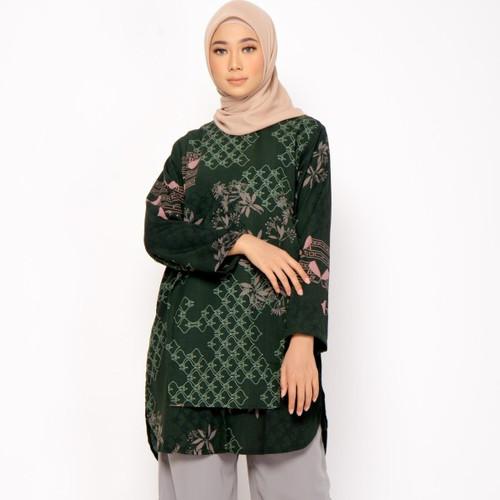 Foto Produk ZM Zaskia Mecca - Gina Emerald Tunik - Jelita Indonesia - Palembang - XXL dari Zaskia Mecca Official