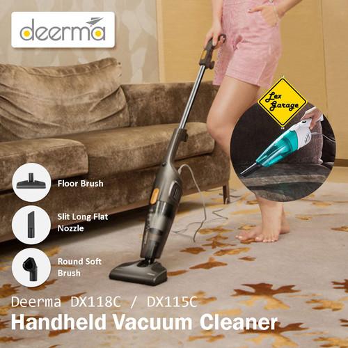 Foto Produk Vacuum Vacum Cleaner Deerma DX118C DX115C Penyedot Debu - DX115C Abu dari Lex Garage