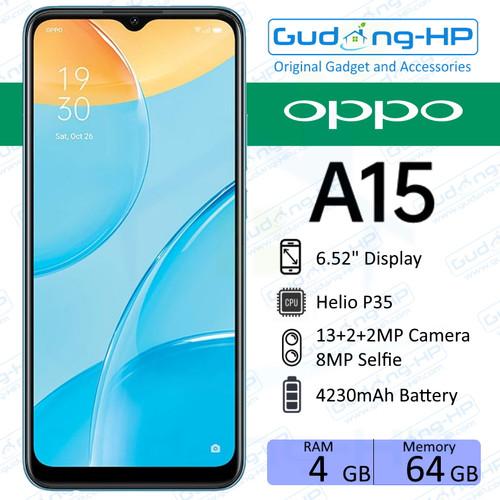 Foto Produk OPPO A15s 4/64 GB Garansi Resmi - Hitam dari Gudang-HP