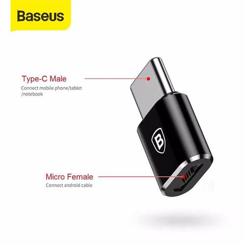 Foto Produk BASEUS ANDROID OTG TYPE C / MICRO USB CONVERTER PLUG - MUTC dari Baseus Official Store