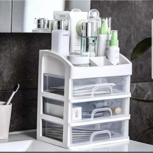 Foto Produk KKR3 Rak Kosmetik 3 susun dengan laci kotak tempat make up multifungsi dari anabelle