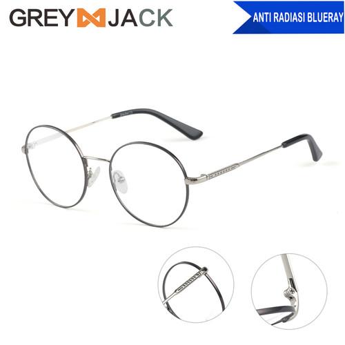 Foto Produk Grey Jack Frame Kacamata anti radiasi BluerayMetal Fashion bulat 5004 - black dari Grey Jack
