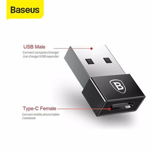 Foto Produk BASEUS ANDROID OTG TYPE C / MICRO USB CONVERTER PLUG - TCUSB dari Baseus Official Store