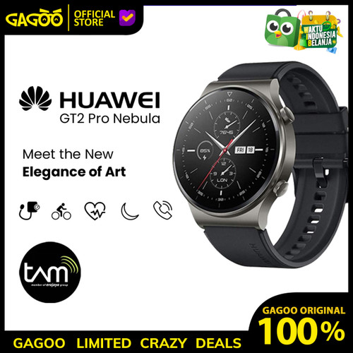 Foto Produk Huawei GT 2 Pro Resmi TAM [100% ORIGINAL] Nebula Grey - Smartwatch dari Gagoo Official Store