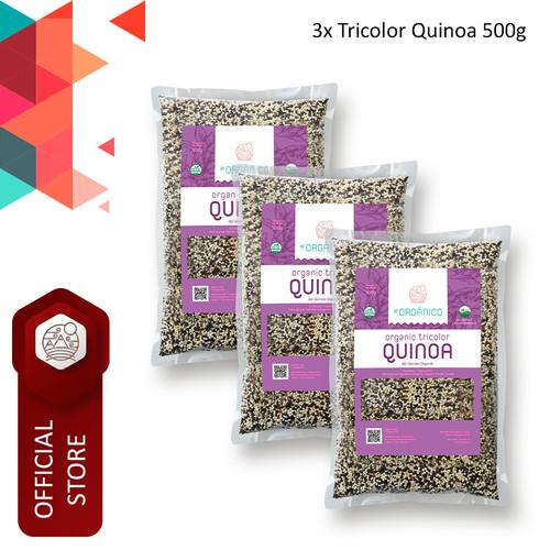 Foto Produk Tricolor Quinoa Organic El Organico 500gr (Triple Pack) dari ELorganico