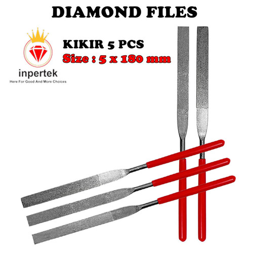 Foto Produk (5*180) Diamond Files Set 5   Kikir Set 5   Asah Diamond File Tuner dari Teknikloak
