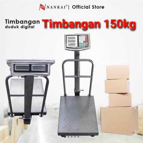 Foto Produk PROMO TIMBANGAN duduk digital 150 KG / 150kg NANKAI harga 100kg dari TOKO BESI TIMUR JAYA
