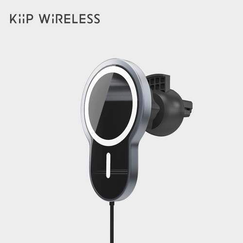 Foto Produk KIIP X6 MAGNETIC WIRELESS CAR CHARGER HOLDER MAGSAFE FAST CHARGE IP12 - Hitam dari KIIP Official Store