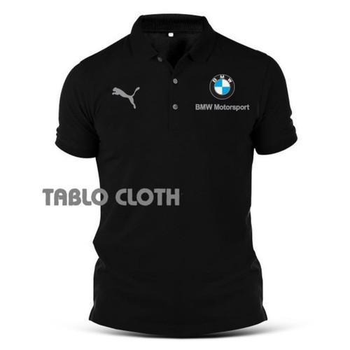 Foto Produk Polo shirt Pria Kaos Kerah Bmw Power Terbaru - Hitam, L dari Tablo cloth