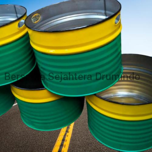 Foto Produk drum besi/tong sampah/pot tanaman vol.100L T43cm L58cm OJOL ONLY - ga usah tutup dari sarana jaya drumindo