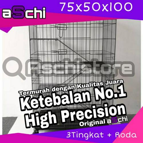 Foto Produk Kandang Lipat + Roda Tingkat 3 Size XL 75 Untuk Kucing / Hewan - Reguler dari Aschi Store