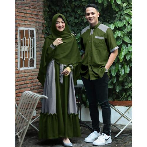 Foto Produk Couple Kajon / Baju Pasangan / Couple Muslim Terbaru - Kajon hijau dari Sun Oshop