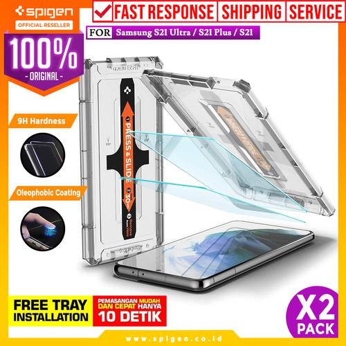 Foto Produk Tempered Glass Samsung Galaxy S21 Ultra Plus Spigen Glas tR EZ Fit - S21 dari Spigen Official