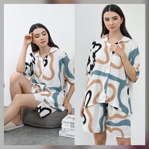 Foto Produk Sadie Set in Summer - Sleepwear / Piyama Baju Tidur Rayon RAHA dari Raha Sleepwear