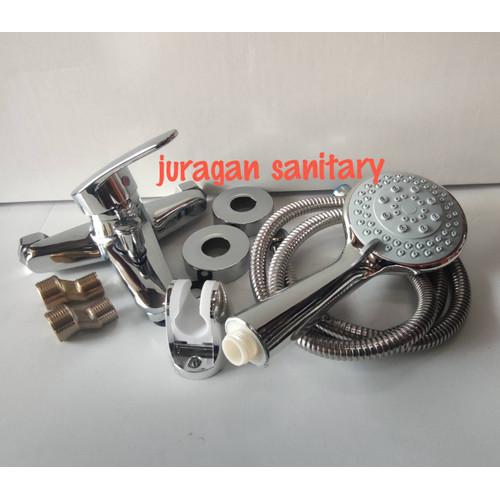 Foto Produk Kran Air/Keran/Shower/Bathtub/Lengkap dengan Shower Panas Dingin dari Juragan Sanitary