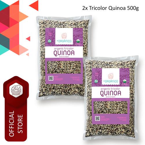 Foto Produk Tricolor Quinoa Organic El Organico 500gr (Double Pack) dari ELorganico