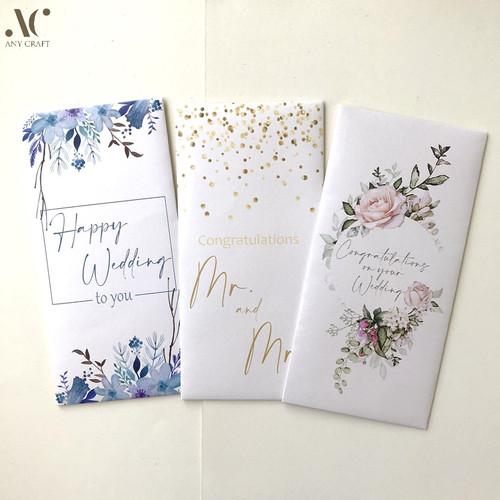 Foto Produk (isi 3) Amplop Sumbangan Angpao Hongbao Pernikahan Wedding 8x17 dari Any Craft
