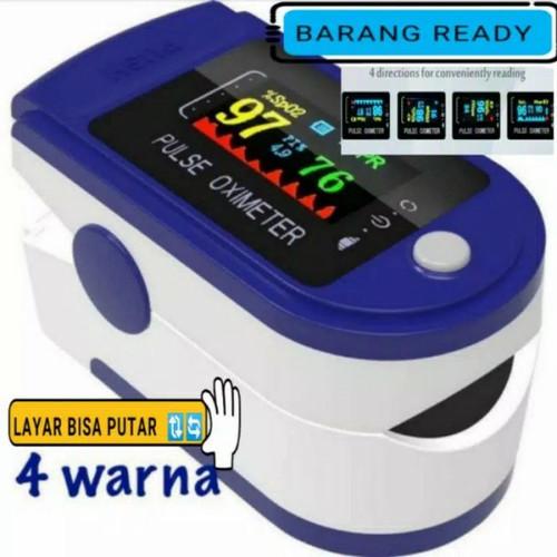 Foto Produk fingertip pulse oximeter oxymeter spo2 alat ukur kadar oksigen darah - Biru dari mageline shop