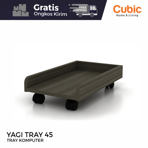 Foto Produk Cubic Tray Komputer / Rak Roda CPU Meja Komputer / YAGI TRAY 45 dari Cubic Home & Living