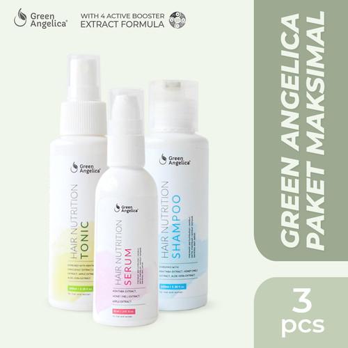 Foto Produk Green Angelica Paket Maximal Treatment - Penumbuh Rambut Botak Rontok dari GreenAngelica Official