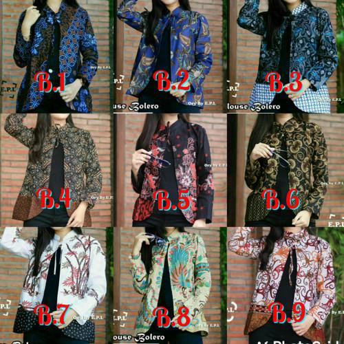Foto Produk Atasan Batik blouse batik bolero Wanita Blus Blezzer dari kI. store