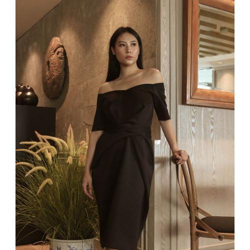 Foto Produk SABRINA WRAP DRESS BLACK - S dari At Vezzo