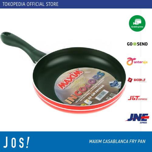 Foto Produk MAXIM CASABLANCA FRY PAN TEFLON 20cm 22cm 24cm 26cm - 20 cm dari J O S