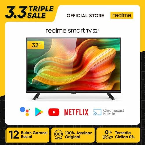 Foto Produk realme Smart LED TV 32 inch [Android 9.0, Bazel-less, Dolby Audio] dari realme Official Store