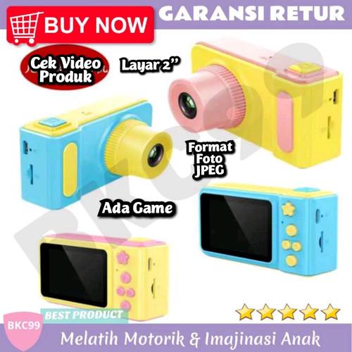 Foto Produk E73 Mainan Anak Perempuan Camera Kamera Foto Hadiah Kado Anak Murah - Kuning Biru dari BKC99