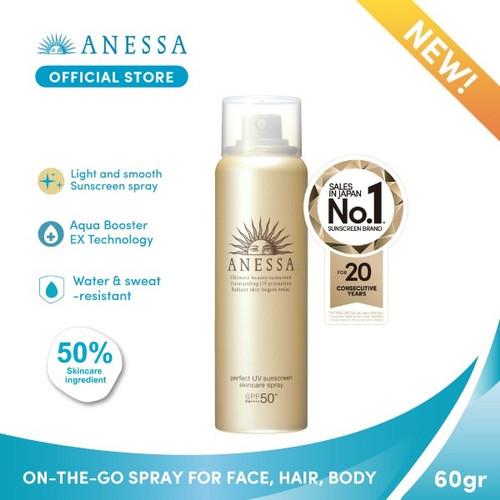 Foto Produk ANESSA PERFECT UV SUNSCREEN SKINCARE SPRAY SPF 50+ PA++++ 60gr dari Anessa Official Store