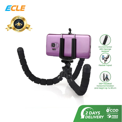 Foto Produk ECLE Flexible Octopus Tripod Gorilla Pod Camera HP Portable Holder dari ECLE Official Store