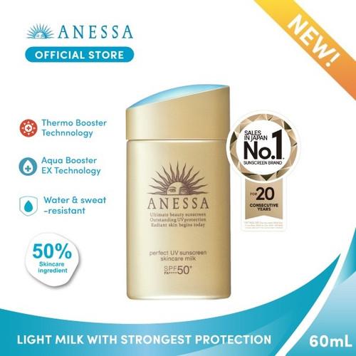 Foto Produk ANESSA PERFECT UV SUNSCREEN SKINCARE MILK SPF 50+ PA++++ 60ml dari Anessa Official Store