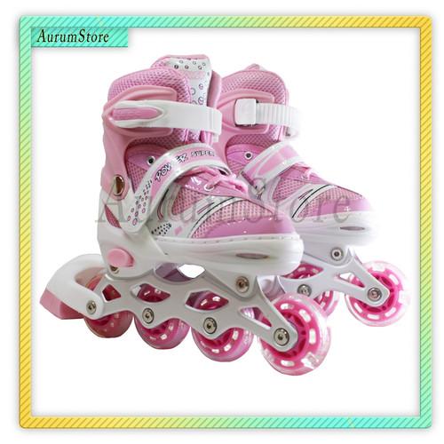 Foto Produk Sepatu Roda Anak / Inline Skate Anak FREE BAUT BAJAJ - Biru, XS dari Aurumstoree