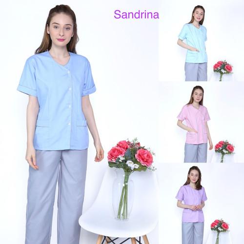 Foto Produk Baju seragam suster/ Baju nanny/ Seragam klinim (two tone grey) - Biru, S dari KidsGallery