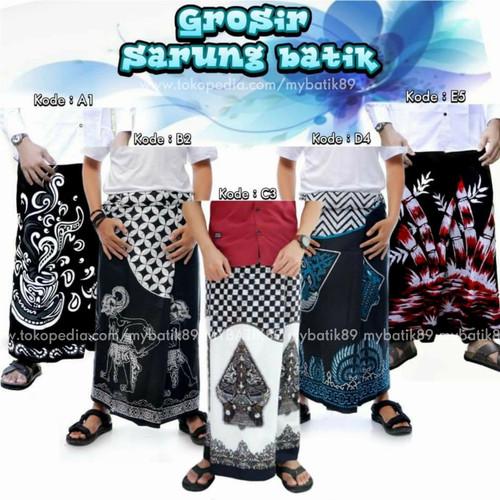 Foto Produk sarung batik Pekalongan / sarung batik wayang - Gunungan Hitam dari my_batik89