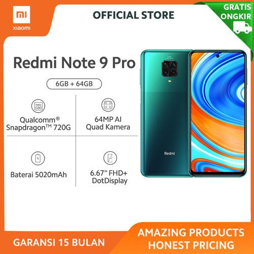 Foto Produk Xiaomi Official Redmi Note 9 Pro 6/64 GB Garansi Resmi Mi Smartphone - Tropical Green dari Xiaomi Official Store