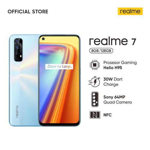 Foto Produk realme 7 8/128GB [Sony 64MP Quad Camera, Helio G95, NFC] - Putih dari realme Official Store