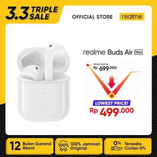 Foto Produk realme Buds Air Neo [Super Low Latency, Open-up Auto Connection] dari realme Official Store