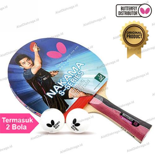Foto Produk Bet Pingpong Tenis Meja Raket Pingpong Tenis Meja Butterfly Nakama S5 dari Alat Olahraga ID