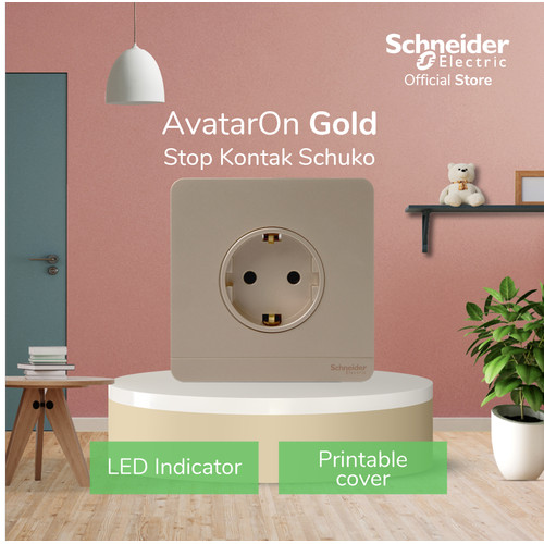 Foto Produk Schneider Electric AvatarOn Stop Kontak Schuko - Gold dari Schneider Electric Home