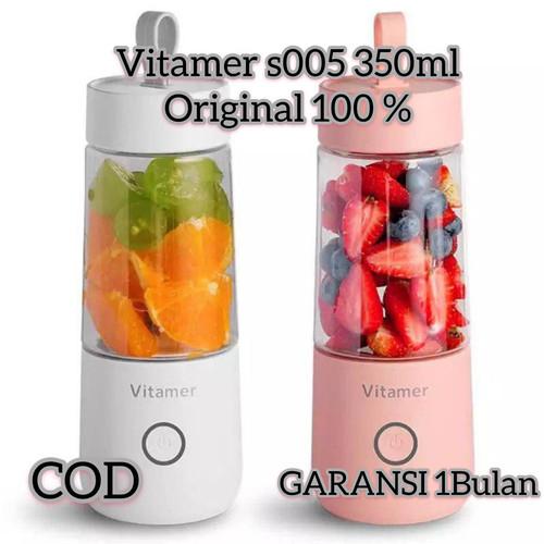 Foto Produk VITAMER BLENDER PORTABLE 350 ml JUICER CUP MINI RECHARGEABLE - Merah Muda dari kairos-olshop
