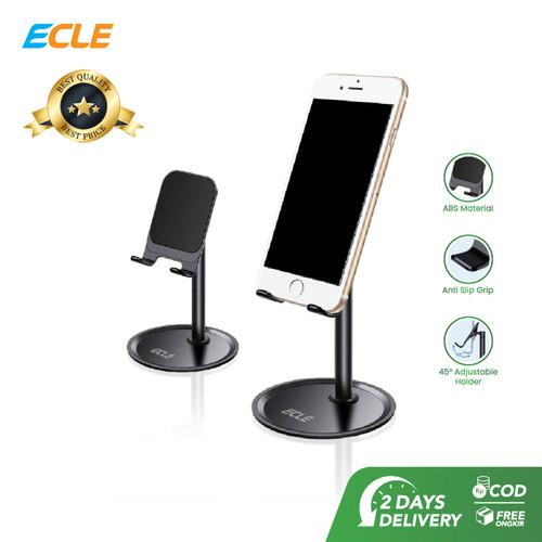 Foto Produk ECLE Phone Stand Holder Dudukan HP Folding desktop Liftable hitam dari ECLE Official Store