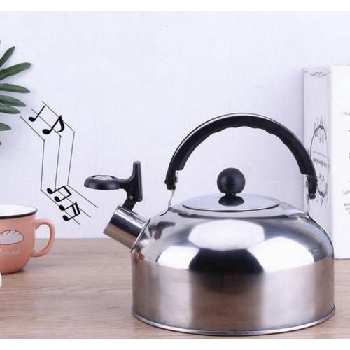 Foto Produk Kettle Bunyi Stainless Stell 3 Liter- Whistling Kettle / ceret Stainle dari Cellis Houseware