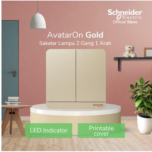 Foto Produk Schneider Electric AvatarOn Saklar Lampu Gold - 2 Gang 1 Arah dari Schneider Electric Home