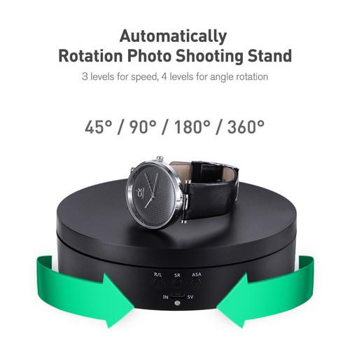Foto Produk Display Rotating Stand Base Turn Table 16 CM - Hitam dari MACRO