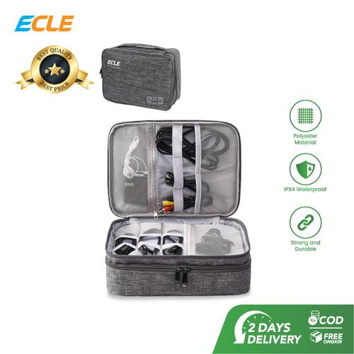 Foto Produk ECLE Storage Bag Waterproof Tas Aksesoris Gadget Portable Multifungsi - Abu-abu dari ECLE Official Store