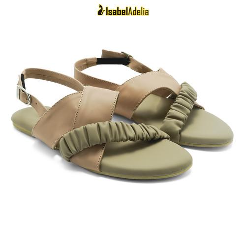 Foto Produk IsabelAdelia ARIA Slip Sandals Teplek Slingback Kerut - Hijau, 37 dari Isabel adelia official