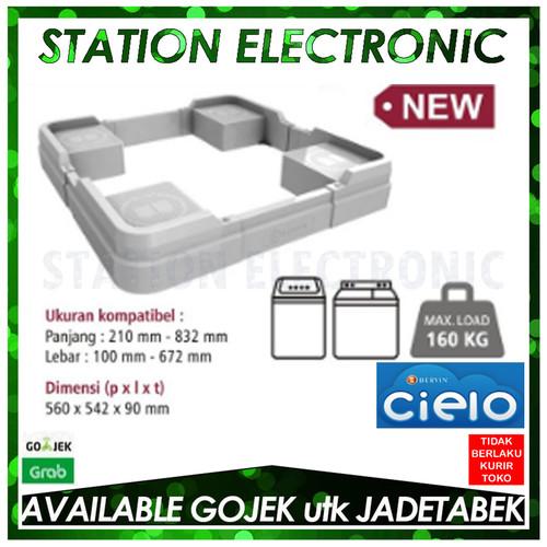 Foto Produk BERVIN CWSA-120 / CWSA120 Dudukan Mesin Cuci Twin Tub & Top Load GREY dari station electronic