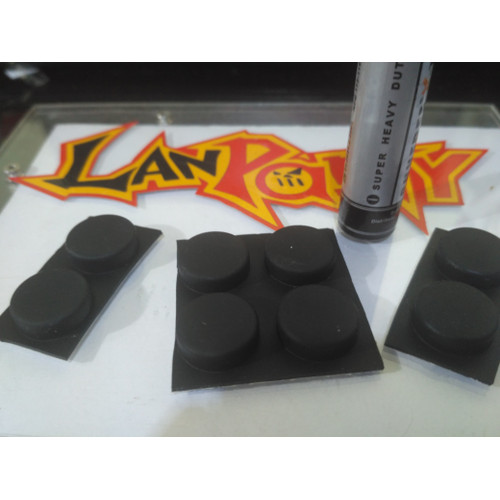 Foto Produk Rubber Feet Laptop Karet Kaki Notebook Hitam - Hitam 14.5x4.5m dari LPComp